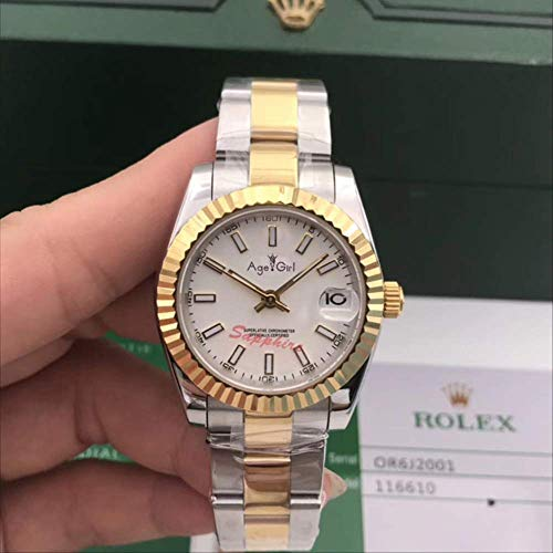 LKYH Klassische Armbanduhr Edelstahl Saphir Uhr Damen Dame Automatik Mechanisch Silber Gelbgold Schwarz Weiß Datejust 31mm6