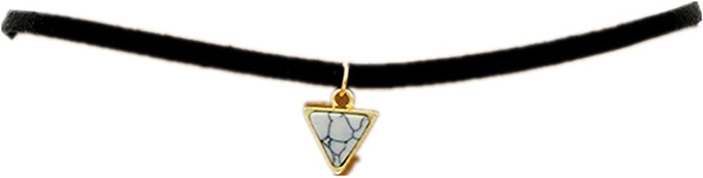 ANNE SOUL Vintage Gothic Collar Triangle C Goth Over item handling ☆ 2021 spring and summer new Punk Turquoise