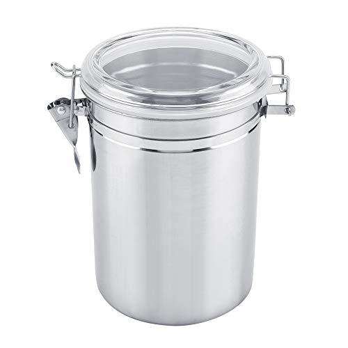 Edelstahl Kaffeedose,ASHATA Vorratsdose Kaffeebehälter Vorratsbox Frischhaltedose Box,Edelstahl Kaffeedose Luftdicht Lebensmittel Lagerung Container mit Deckel für Kaffeebohne Kaffeepulver(XL(1900ml))