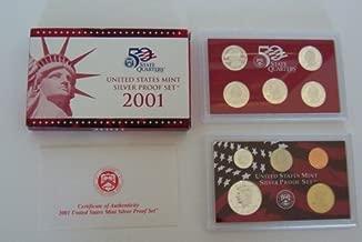 2001 U. S. Mint Silver Proof Set with Original Box and COA