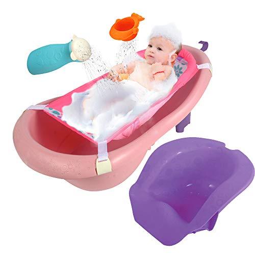 Baignoire bébé 4 étages avec siège et accessoires de douche