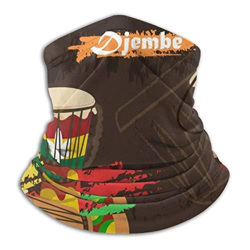 GHRT Djembe African Percussion Ultimativer Komfort Halswärmer Gesichtsschutz Super Schutz Bandana Stirnband Mütze Winddicht Staubdicht Mund Gesicht Magischer Schal Sturmhaube
