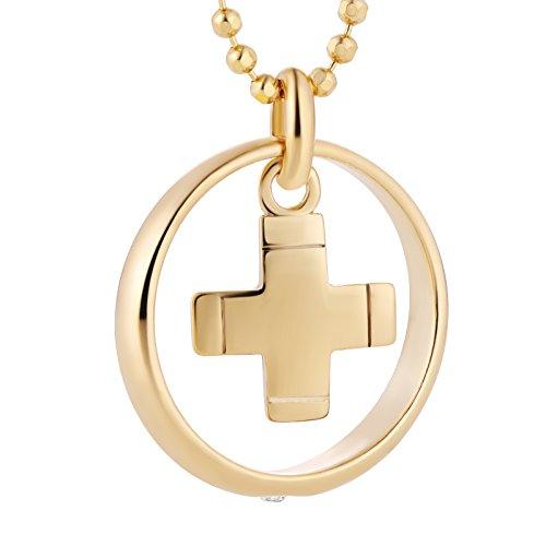 fish Mädchen Junge Hals-Silberkette Silber Gold Beschichtet Taufkette Klar Schmucketui Geburt Geschenk