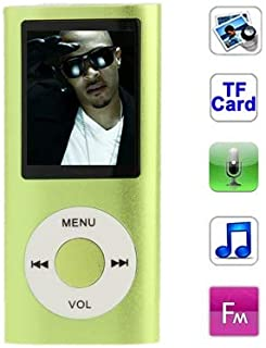 WZY 1.8 inch TFT Screen Metal MP4 Player with TF Card Slot, Support Recorder, FM Radio, E-Book and Calendar(Silver) (Color : Green)