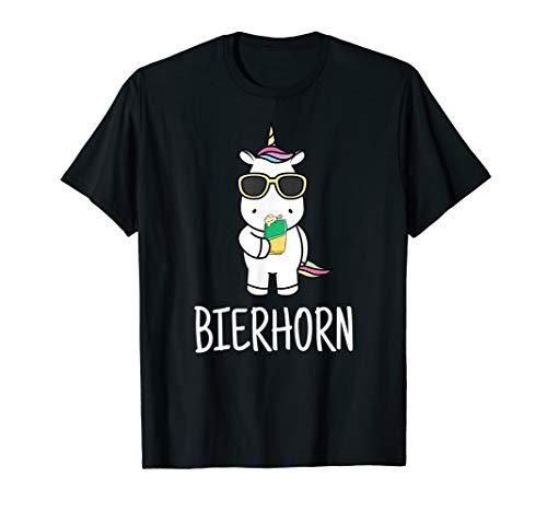 Einhorn Dosenbier Bierdose Bier Trinken Party Feiern Saufen T-Shirt