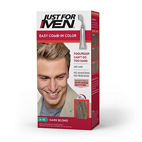 Just for Men Juste pour les hommes autostop Peigne-In Couleur des cheveux pour hommes, Blond foncé