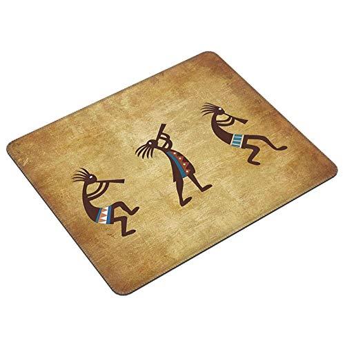 Southwest Native American Kokopelli - Alfombrilla de ratón para juegos étnicos