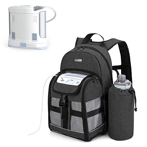CURMIO Portable Oxygen Concentrator Backpack, POC Carrying Bag Compatible with Inogen, OxyGo and Caire Units, Bag Only, Black (Patented Design)