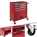 Arebos carro de taller 4 compartimentos | 2 ruedas con de estacionamiento | Espacio para las herramientas de un mecanico de taller