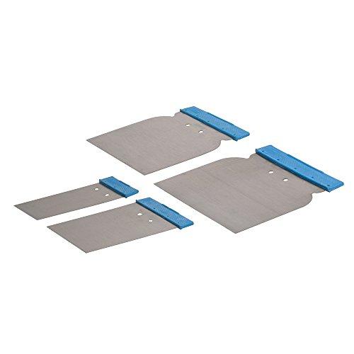 Silverline 398777 - Espátulas para Masilla, 4 pzas (50, 80, 100, y 120 mm)