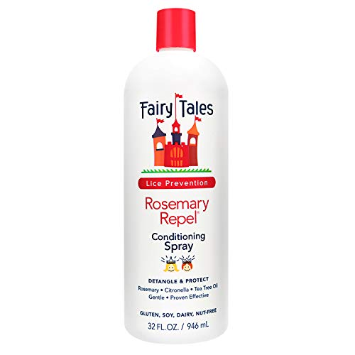 Fairy Tales Rosemary Repel Daily Kid Conditioning Spray Refill- Conditioning Lice Spray for Kids for Lice Prevention, 32 Fl Oz (Pack of 1)