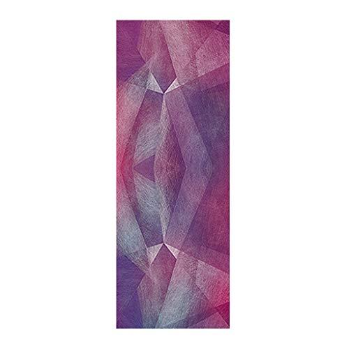 Andouy Yoga Handtuch Drucken Fitnesstuch - rutschfest, Leicht, Recyceltes, Saugfähiges Mikrofaser Yogahandtuch für Hot Yoga Bikram Ashtanga und Pilates(183X68CM.B)