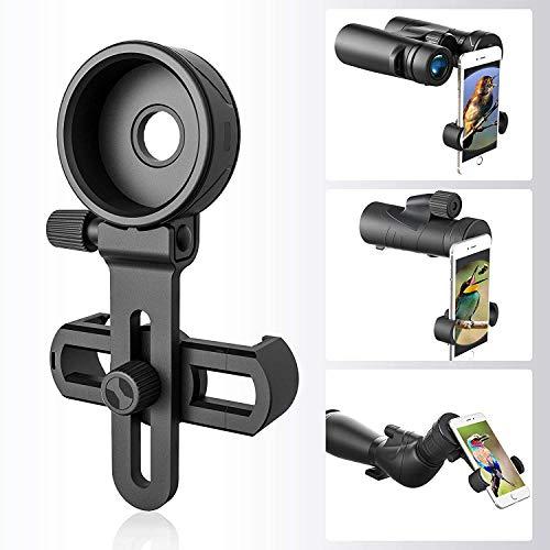 Soporte Universal para Adaptador de teléfono, Compatible con microscopio Binocular monocular telescopio telescopio, se Adapta a Casi Todos los teléfonos Inteligentes, graba la Hermosa Vida