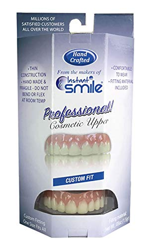 Professional Cosmetic Upper - New from Instant Smile! Hand crafted detail, custom fit at home! Works Best in Medium to Large Sized Mouths. Missouri