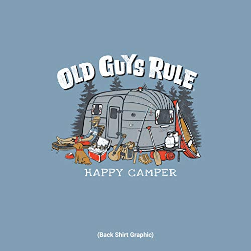 Product Image 4: OLD GUYS RULE T Shirt for Men | Happy Camper | Stone Blue