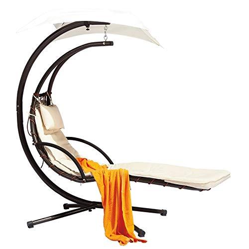 Yankuoo Zonlicht, tuinstoel, outdoor, maan, smeedijzer, schommelstoel, comfortabel, binnen en buiten, woonkamer, slaapkamer, tuin, patio