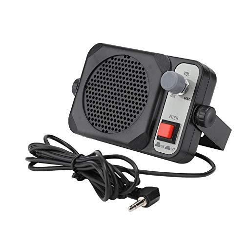 Wendry Autoradio-luidspreker, draagbare, multifunctionele externe autoradio-luidspreker, hoogwaardige hifi-luidspreker, laag stroomverbruik, zwart
