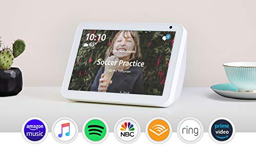 """Echo Show 8 - HD 8"""" smart display with Alexa - Sandstone bundle with Lifx Smart Bulb 2-pack"""