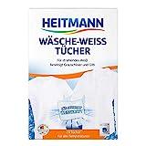 Heitmann Fogli sbiancanti per Lavatrice (20 foglietti): Per ridare un bianco smagliante al tuo bucato