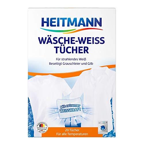 Heitmann Toallitas Ropa Blanqueador para un Blanco Extremadamente Potente en Algodón y Otras Telas. Pack de 3 Unidades