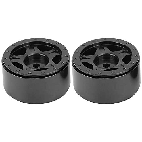 Kit de Cubo de Rueda RC, Piezas de Mejora de Coche RC Mejora del Rendimiento del Coche RC para Coches Axial SCX24 90081 1/24 RC(Black)