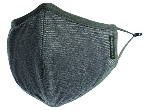 Pacsafe Protective & Reusable Silver iON Face Mask, Large, Silver Gray