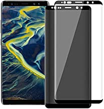 [2 Pack] Galaxy Note 9 Screen Protector,Privacy + HD Tempered Glass Anti-Spy Screen Protector for Samsung Galaxy Note 9 / Note 8 [Full Coverage] [9H Hardness] [Anti-Scratch] [Easy Install]