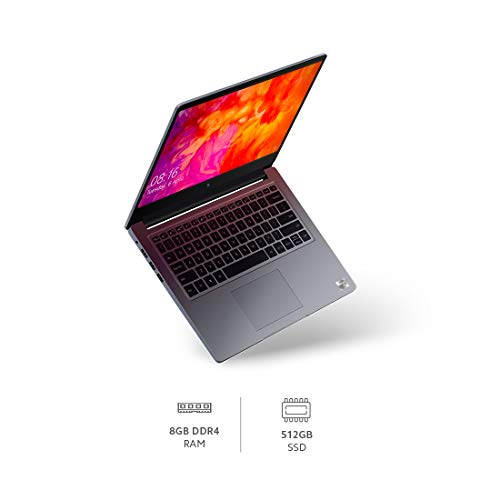 MI Notebook 14 (IC) Intel Core i5-10210U 10th Gen 14-inch (35.56 cms) Thin and Light Laptop(8GB/512GB SSD/Windows 10/Intel UHD Graphics/Silver/1.5Kg), XMA1901-FK
