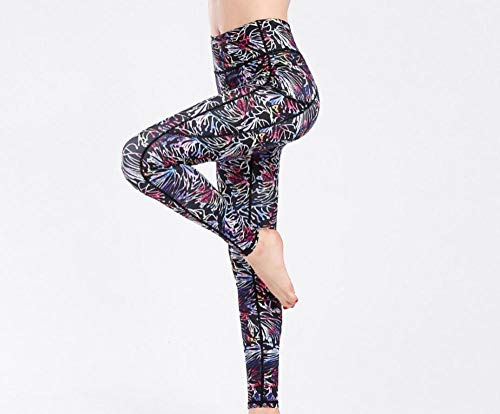 MSFX Pantalones De Yoga 3D Mujeres Gym Fitness Running Yoga Impresión Digital Pantalones Ajustados Waet High Color Printing-C_S