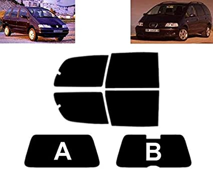 05/% Super Negro L/áminas Solares para Tintar Las Lunas del Coche-Seat Leon 5-Puertas Compacto 2000-2005 Ventanas Laterales Delanteras
