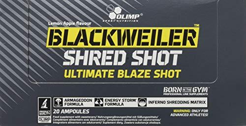 Olimp Blackweiler Shred Shot 20 X 60 ml, 1 Units
