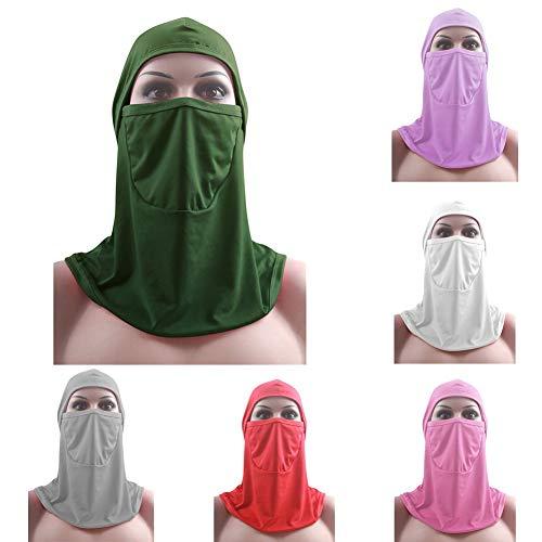 Halsey99 Arabisches Gebet Schal, One Piece Ramadan Arab Gebet volle Gesichts-Abdeckungs moslemische Frauen Hijab Niqab Schleier islamische Gesichtsabdeckung Schal-Schal