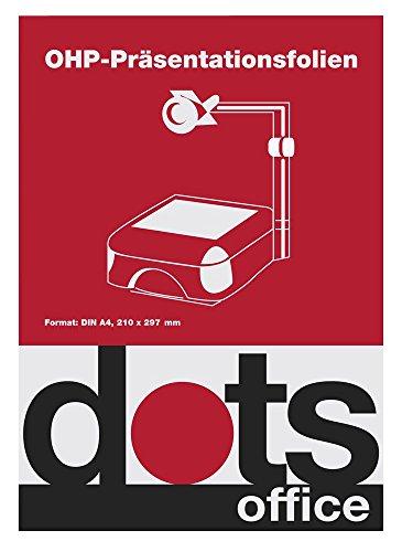 50St. dots OHP-Folien für Farb-Laserdrucker/Farb-Kopierer