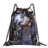 Borderlands 3 mochila clásica con cordón, bolsa de yoga para hombres y mujeres, bolsa de almacenamiento de compras portátil