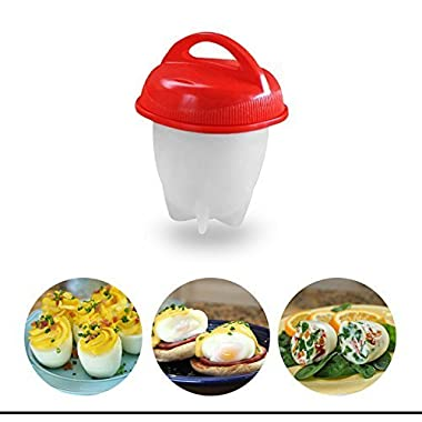 Egg cooker Hard & soft with out the shell cooker, separator, BPA Free, Non stick Silicone egg cooker, As seen on TV (6 Pack) Gough Brand