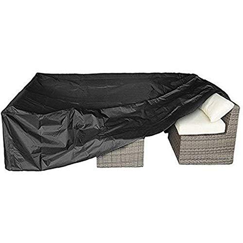 Housse Table de Jardin Ensembles Canapé, canapé, Couvertures Ensembles Canapé d'extérieur, Covers Meubles de Patio (Color : Black, Size : 320X160X72cm)