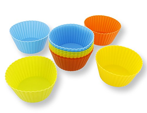Reusable Silicone Baking Cups, Cupcake Liners (4 in., 12 Pack)