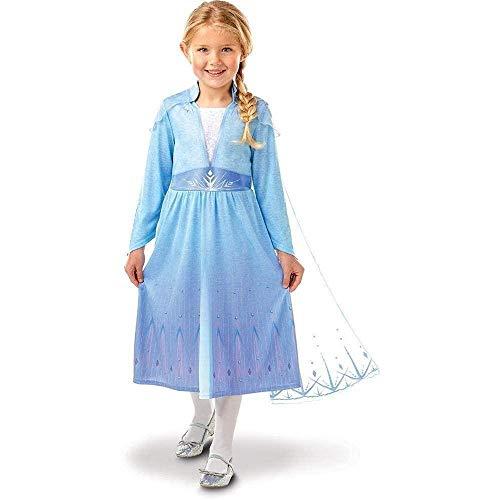 Rubies - Disfraz oficial Elsa Frozen 2 tallas 7-8 años -I-300468L, niña, I-300468L, azul