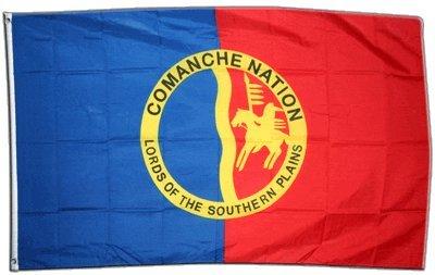 Flaggenfritze Fahne/Flagge Indianer Comanche + gratis Sticker