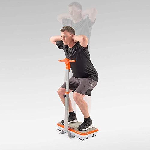Mediashop VibroShaper – Fitness Vibrationsplatte unterstützt bei Muskelaufbau und Fettverbrennung – Vibrationstrainer für alle Muskelgruppen – inklusive Fitnessbänder – orange mit Griff - 9