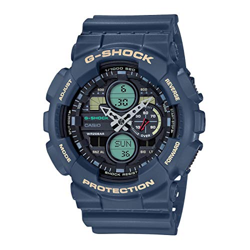 CASIO Herren Analog – Digital Quarz Uhr mit Resin Armband GA-140-2AER