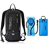 Trekoo 10L Biking Backpack with 2L Water Bladder for Camping Hiking Running Cycling