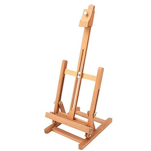 Chevalet de table,chevalet de peinture et d'affichage réglable en bois de hêtre, support de tablette de croquis de table robuste portable H-Frame pour enfants artiste adultes salle de classe/fêtes