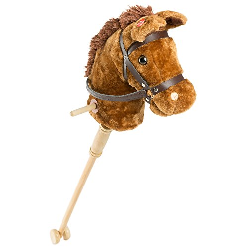 Horse Stick With Sound Toy Stuffed Animal Horse Stick 36 Inches Brown By HollyHOME