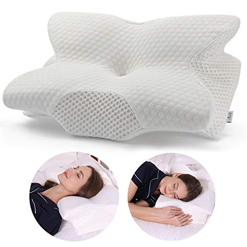 Coisum Back Sleeper Cervical Pillow - Memory Foam Pillow for Neck and Shoulder...