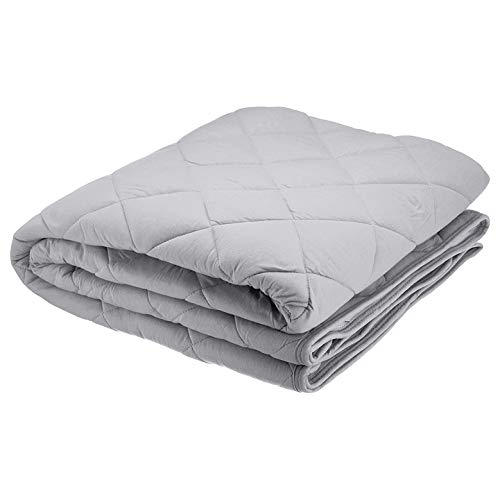Ideapro 敷きパッド クイーン 綿100% ベッドパッド 丸洗い可能 抗菌・防臭・防ダニ加工 オールシーズンで使える 160X200cm ベッドシーツ ベッドマット 無地 敷パッド マットレスパッド (gray, クイーン)