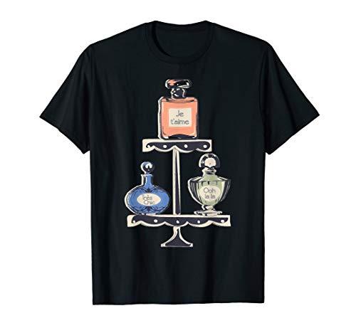 Paris Eau de Parfum Perfume Bottles Retro Souvenir French T-Shirt