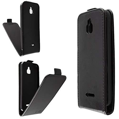 caseroxx Flip Cover für Nokia 6300 4G, Tasche (Flip Cover in schwarz)