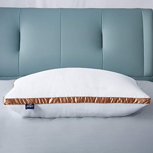 IMISSYUO 2er Set Luxus Kopfkissen, Hotelkissen 40 x 80 cm, Mikrofaser Kopfkissen , Allergiker Schlafkissen,Waschbar