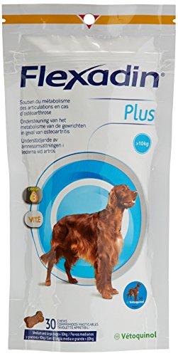 Vetoquinol Flexadin Plus - Antioxidante para Perro, más de 10 kg, 30 bocados.